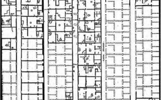 Trazado de Tell-el-Amarna, ciudad de Akenaton